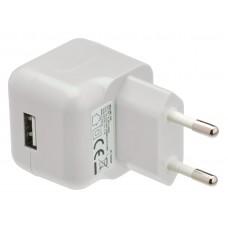 USB AC-lader USB A hunn - hvit