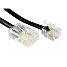 Telefonkabel 6/8pin ISDN sort 2m